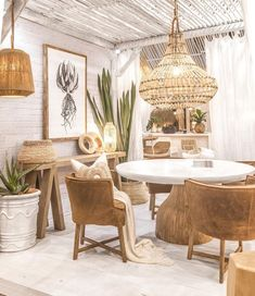 """Uniqwa Furniture on * St James Dining Table * Guatemala Dining Chairs- leather slip…"""" Boho Living Room, Living Room Decor, Bedroom Decor, Boho Room, Dining Room Design, Interior Design Living Room, Leather Dining Chairs, Beach House Decor, Home Decor Inspiration"""