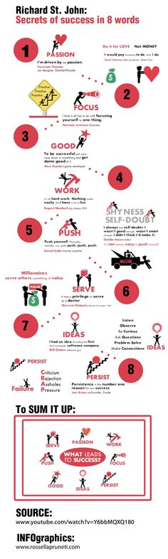 The 8 Unavoidable Secrets Of Success #infographic