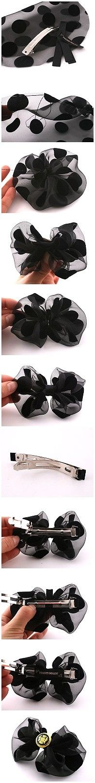#DIY #tutorials for #ribbon #bows. Very simple but nice.