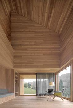 Haus am Stürcherwald by Bernardo Bader. Wooden hut.