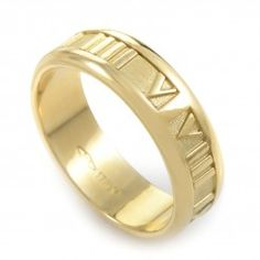 Tiffany & Co. Atlas 18K Yellow Gold Ring