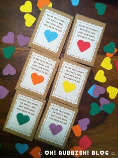 Plantable Seed Paper Heart Valentine Class Favors :::Here's a unique, eco-friendly, inexpensive, non-candy Valentine's Day classroom favor idea! :: : Plant This Heart Valentine Day Favor Ideas :: oh! Valentines Day Decorations, Valentine Crafts, Valentine Day Cards, Paper Cards, Paper Gifts, Diy Paper, Paper Plants, Seed Paper, Valentine's Day Diy