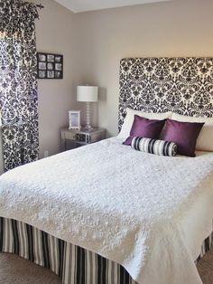 DIY simple Fabric Headboard, wall mounted DIY home furniture