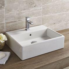 Santo White Ceramic Wall Hung or Counter Top Basin | Wren Bathrooms