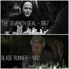 The Seven Seal // Blade Runner The Seventh Seal, Ridley Scott, Blade Runner, Cinematography, Filmmaking, Movies, Movie Posters, Instagram, Cinema