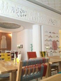 Un restaurant vitrină atrage privirile pe Calea Victoriei Restaurant, Valance Curtains, Bucharest, Interior Design, Decor Ideas, Places, Home Decor, Nest Design, Decoration Home