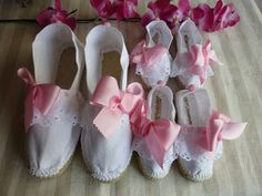 Alpargatas a juego para madre e hija y para bodas.