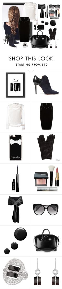 """""""Play'n Hardball"""" by blueseamermaid ❤ liked on Polyvore featuring Americanflat, Malone Souliers, RED Valentino, Casetify, Portolano, Givenchy, Bobbi Brown Cosmetics, Alexander McQueen, Topshop and Chanel"""