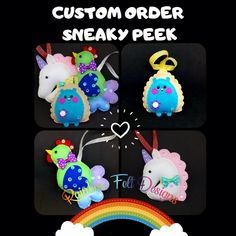 Felt Gifts, Facebook Sign Up, Small Businesses, Don't Forget, Hedgehog, Unicorn, Rest, Handmade Items, Rainbow