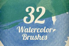 Watercolor Strokes Brush Pack ~~ This watercolor strokes Photoshop brush pack contains 32 super high resolution Photoshop brushes.    These brushes are the perfect way to add texture and depth to your images, or to give your design a handmade look.    Each brush is between 1600-2500 pixels fo…