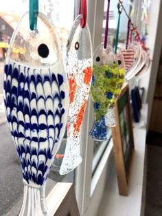 Fused glass fish with high fired paint detail by The Stained Glass Studio Ipswich #StainedGlassFish