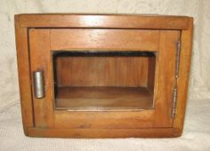 1920s Barber Shop Sterilizer Cabinet @ Vintage Touch $99.00. SOLD