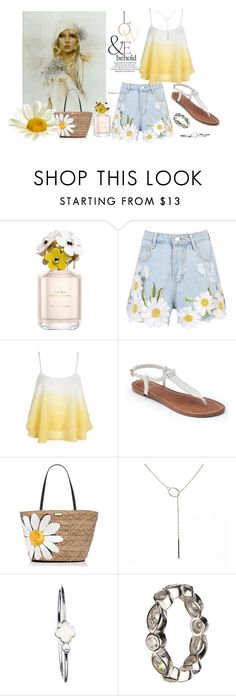"""""""Lazy Daisies  Fun Fashion"""" by freida-adams ❤ liked on Polyvore featuring Marc Jacobs, ASOS, WithChic, Apt. 9, Kate Spade, white, yellow, Daisy and bellastreasure"""