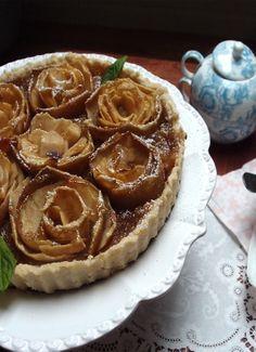 Fancy Apple Rose Tart by Anne & Rachel