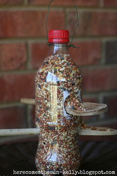 Recycled Pop/soda Bottle Bird Feeder #upcycle #repurpose #reuse #bird_feeder