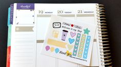 Lil Page,Mail, Gas, Coffee, ADD ON for orders over 10.00, Fits Erin Condren and others, Plum Planner, Lilly P., Planner Stickers, Scrapbook by LillyTop on Etsy