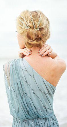 Mint one shoulder dress