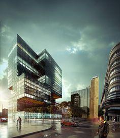 Axel Springer Verlag - Wettbewerbsvisualisierung - Sharknado architektur visualisierung - http://gpudesign.de