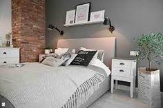 Znalezione obrazy dla zapytania skandynawska sypialnia na poddaszu