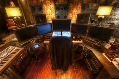 Hans Zimmer's 19th century Viennese brothel inspired office/studio.