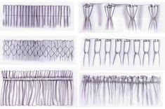 Décoration intérieure / Rideaux curtains / têtes accroches attaches ruflettes / Habillage de fenêtre