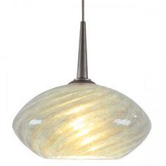 Bruck Pandora 1 Light Mini Pendant Finish: Matte Chrome, Canopy/Bulb type: No Canopy/Halogen, Glass Color: Emerald