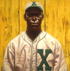 Kadir Nelson, painting of Martín Dihigo in the Mexican League uniform of the Xalapa Chileros, c. 1952-53.
