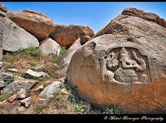 Ganesha Carving on Stone, Hampi, Karnataka