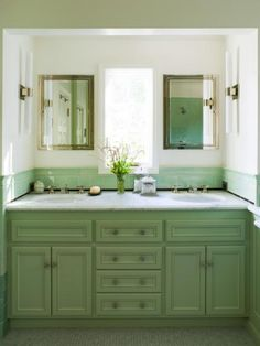 Both frosty and fresh, mint is an ideal hue for those months in between winter and spring. This sweet hue evokes the romance of yesteryear, especially when paired with other pastels. Or try it in place of traditional neutral hues, like Coddington Design did in this contemporary bathroom. Inspiration:See Why We Love Mint Green