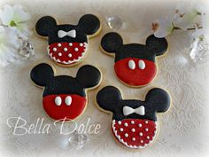 Magical Sparkly Mickey and MInnie Decorated Cookies1 Dozen (12) Birthday Party  Baby Shower Favors. $28.00, via Etsy.