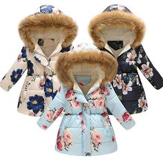 Quality Little Me Winter Puffy Coat Jacket 18 Months Girls Euc Pink Blue Floral Superior In