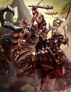 CHAOS LORD VS STONEHORN #ageofsigmar #warhammer #art #fantasy #aos #gamesworkshop #Chaos