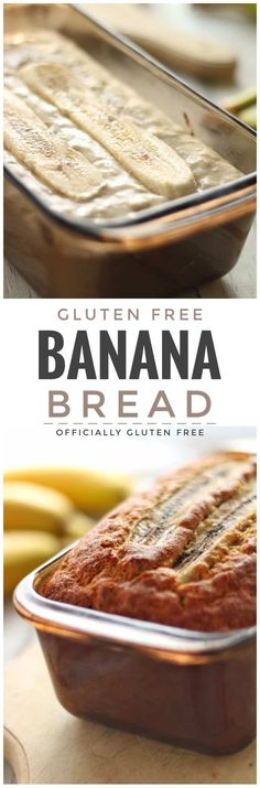 Banana Bread Gluten Free - Officially Gluten Free Recipes Gluten Free Banana Bread, Gluten Free Muffins, Banana Bread Recipes, Gluten Free Sweets, Gluten Free Baking, Freedom, Crusts, Foods With Gluten, Low Fodmap