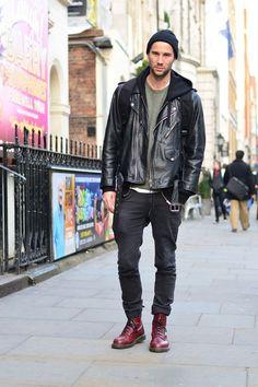Street style in london | #streetstyle #london #menstyle #urban #menstyle #menfashion #fashionforhim #forhim #leather #jacket #citylife #smartlife #smartstyle #casual #urban #beanie   --------------------- ASOS Fashion Finder