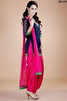 Punjabi Kudiyan Style Patiyala Suit Woman Fashion Anarkali Short Kameez Indian