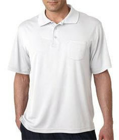 8405P UltraClub® Adult Cool & Dry Sport Polo with Pocket Control your comfort with this performance polo that will keep you cool and dry. 100% polyester moisture-wicking mesh 4-oz. UPF 40 sun protection Relaxed Fit knit collar hemmed sleeves left chest pocket tagless Sizes: S-4XL
