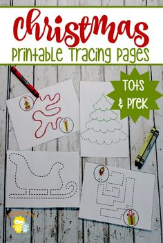 Preschoolers can fine tune their motor skills while they trace these fun Christmas activity pages. | homeschoolpreschool.net