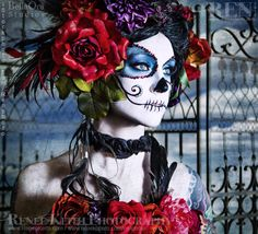 Sugar Skull - Makeup and Photography by Renee Keith by Ren (photo), via Flickr