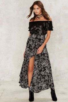 What a View Maxi Skirt