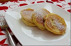 Apples dipped in pancake batter..sounds scrummy!!