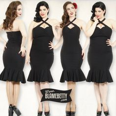 Designed by the beautiful pin up model and YouTube sensation herself, this sexy wiggle dress was made to make you feel amazing! #blamebetty #pinup #retro