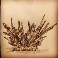 Crystal tattoo sketch / drawing by - Ranz