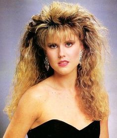80s - Now THATS an 80s hair do!! Ah memories I so had this hair!!!!!!! Yes I admit it lol!