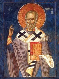 Saint Nicholas: icons and frescoes Religious Images, Religious Icons, Religious Art, Byzantine Art, Byzantine Icons, Fresco, Catholic Memes, Paint Icon, Bad Santa