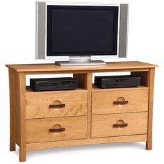 Copeland Berkeley 4 Drawer Dresser + TV Organizers 2-BER-46-03