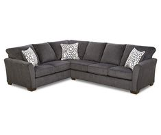 Best Loric Smoke Sectional Furniture Sectional 3 Piece 400 x 300