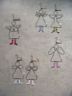 Send me an angel… Ein Engel ist immer ein besond… Christmas Angels, Christmas Projects, All Things Christmas, Kids Christmas, Wire Crafts, Xmas Crafts, Diy And Crafts, Crafts For Kids, Art Fil