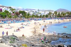 Playa Las Cucharas, Costa Teguise, Lanzarote Costa Teguise, Canary Islands, Places Ive Been, Dolores Park, Spain, Travel, Image, Spoons, Beach