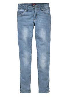 Produkttyp , Jeans, |Qualitätshinweise , Hautfreundlich Schadstoffgeprüft, |Materialzusammensetzung , Obermaterial: 98% Baumwolle, 2% Elasthan, |Material , Jeans, |Farbe , light blue, |Passform , Schmale Form, |Beinform , schmal, |Beinlänge , lang, |Leibhöhe , normal, |Schnittdetails , Seitenschlitze mit Reißverschluss, |Bund + Verschluss , verstellbarer Innen-Gummizug bis Gr. 146, |Taschenanza...