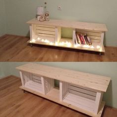 Super DIY TV stand ideas for your weekend house project deko decoration… - Diydekorationhomes.clubSuper DIY TV Stand Ideas For Your Weekend Home Project Decor decoration . Old Tv Stands, Pallet Tv Stands, Wooden Tv Stands, Diy Tv Stand, Crate Tv Stand, Tv Stand With Storage, Diy Holz, Wood Crates, Home And Deco